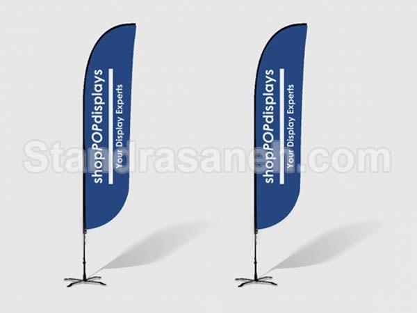 استند پرچمی ساحلی هلالی